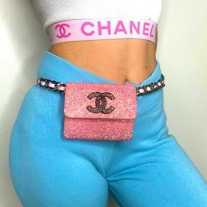 CHANEL VINTAGE STRASS 3-in-1 WALLET BAG AUTHENTIC